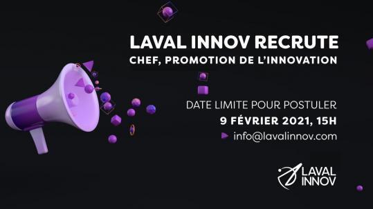 Recrutement: Chef, Promotion de l'innovation