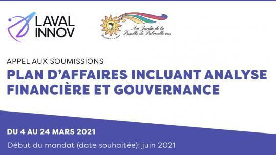Appel aux soumissions: Plan d'affaires incluant analyse financière et gouvernance