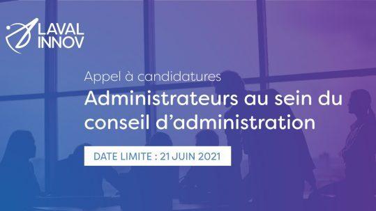 Appel à candidatures: Administrateurs au sein du conseil d'administration